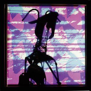 Michi Braun | Ritt auf dem Vulkan 1 | 2021 | Siebdruck / Serigraphie / Durchdruck auf mehrschichtigem Glas | 100 x 100 cm