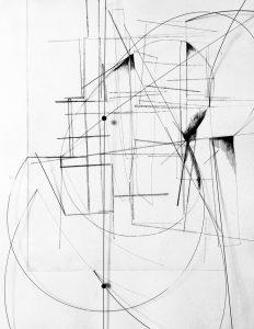 Nina Annabelle Märkl | The Inside Of The Outside Of The Inside, 2021, Kaltnadelradierung Federstahl Magnete, Tuschezeichnung, ca. 60 x 40 x 5 cm