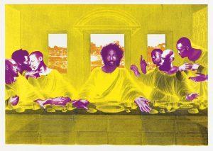 "Christian Sedelmayer | ""Leonardo's Supper Club"", 2021, 5farbiger Siebdruck, 88 x 124 cm"